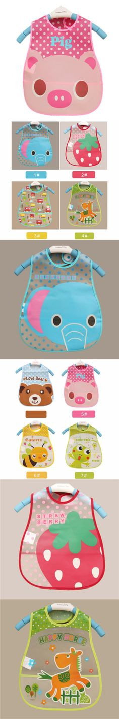 Baby Bibs Waterproof Elephant Cartoon Children Bibs Infant Burp Cloths 2015 Brand Clothing Towel Kids Clothing Accessories