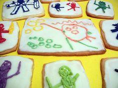kid artwork cookies