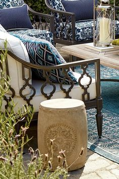 As a seat or side table, our Cayden Garden Stool distinguishes with timeless symbology. The richly carved medallion is formed by acanthus leaves and encircled by beaded trim.