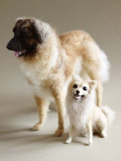 Needle felted dog big or small custom pet portrait by Ainigmati