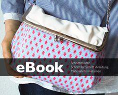 eBook – shoulder Bag purse frame – pattern diy sew from tikata by DaWanda.com