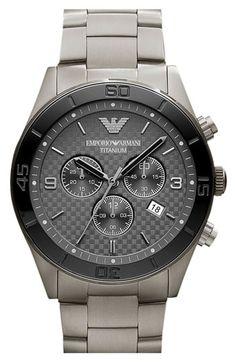 Emporio Armani 'Sport' Titanium & Ceramic Bracelet Watch available at #Nordstrom