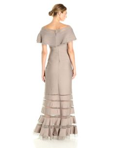 d80f69addb5 Tadashi Shoji Womens Ruffle Off Shoulder Gown Pumice XL -- Click image to  review more