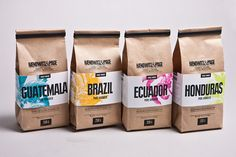 Haenowitz & Page Direct Trade Coffee Roasters by Gian Besset, via Behance
