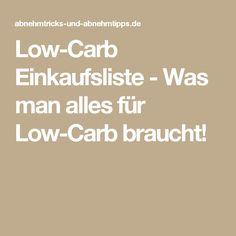 Low-Carb Einkaufsliste - Was man alles für Low-Carb braucht!
