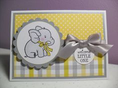 Handmade Baby Card  Baby Elephant Card  Welcome by GGgreetings, $3.75