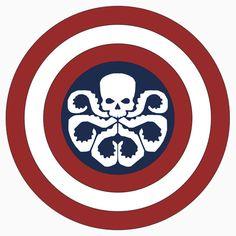 Captain Hydra - Redbubble T-shirt #CaptainAmerica #Marvel #Hydra #HailHydra #SteveRogers