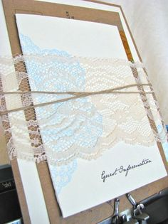 Lace holding things together.  Maybe light grey instead of brown?