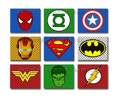 SUPERHERO Art Prints YOU CHOOSE Any 6 8x10 inch Art Prints Super Hero Artwork. $30.00, via Etsy.