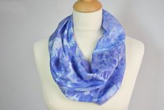 Silk Infinity Scarf Hand Dyed Silk Scarf Unique by OLHAVscarves