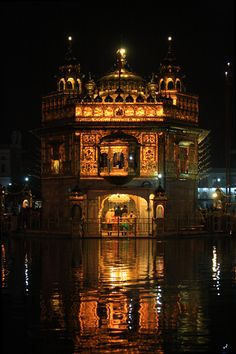 The Golden Temple, Amritsar, India. Baba Deep Singh Ji, Beautiful World, Beautiful Places, Golden Temple Amritsar, Harmandir Sahib, Shri Guru Granth Sahib, Temple Architecture, Indian Architecture, Houses Of The Holy