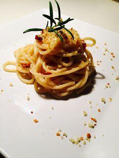 Pasta risottata aglio olio e pecorino