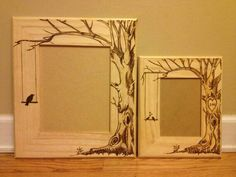 Picture frame pyrography