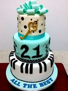 21st Birthday Cake - birthdaycake.com.my