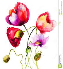 Image result for water color flowers