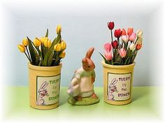 DYI DOLLHOUSE MINIATURES: April 2011, making tulips   # Pin++ for Pinterest #