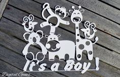 It's a Boy! Papercut SVG Cutting File For Cricut Design Space & PDF Cut Your Own Printable, Instant Download, Small Commercial Use OK