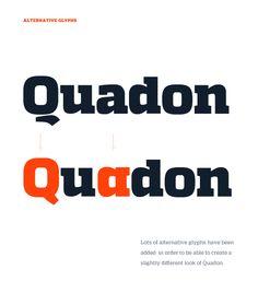 Quadon Typefamily by Rene Bieder, via Behance