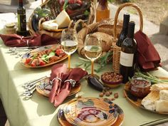 This table setting is at a real picnic at Quivera Winery in Sonoma's Dry Creek Valley.  It is available on IntiriDesigns.com.  Wish you were there?  You can blow away friends just like we do!