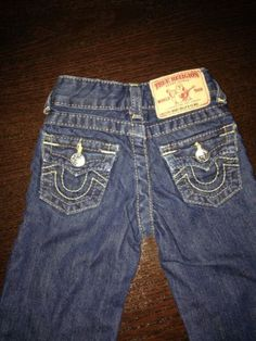 True Religion Boys/Girls Toddler Baby Billy Jeans Pants 6-12 Months Adjustable $49.99
