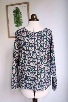 Fledermaus-Shirt Damen Gr. 34 - 54 | Kostenloses Schnittmuster mit Nähanleitung | Nähtalente