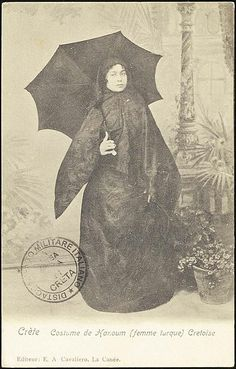 "Muslim ""Turkish"" woman of Crete. Islamic World, Wonderful Picture, France, Costume, Vintage Vanity, Ottoman Empire, Historical Pictures, Muslim Women, Pictures Of You"