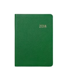 2014 Notebook, Brights Leather Agenda Calendar - Graphic Image