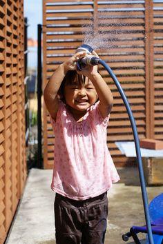 新しい家で初めての水遊び(ニックネーム:jun@rinyunaさん)