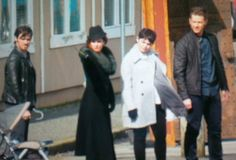 """Rebecca, Colin O'Donoghue, Josh Dallas and Ginnifer Goodwin - Behind the scenes - 5 * 22 """"Only You"""" - 15 March 2016"""