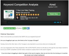Keyword Competition Analysis