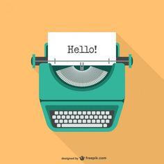 Kuvahaun tulos haulle typewriter illustration free