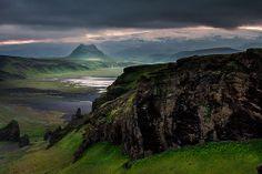 Icelandic landscape - On top of Dyrhólaey
