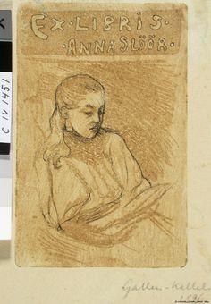 Anna Slöörin exlibris, 1896