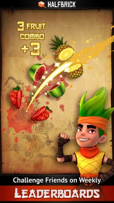 Fruit Ninja: Great reinforcer for primary students and with 2 players you can compete - you can set a time limit too! Love Is Free, Ninja, Free Apps, Challenges, Fruit, Classic, Students, Derby, Ninjas