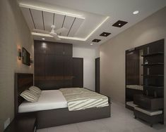 If you are planning to renovate your bedroom interior then you should also decide a good ceiling design for your bedroom. Here are the best modern bedroom ceiling design for you. Modern Bedroom Design, Bedroom False Ceiling Design, Small Apartment Bedrooms, Apartment Bedroom Decor, Modern Interior Design, Modern Bedroom, Ceiling Design Modern, Interior Design Bedroom, Living Room Designs