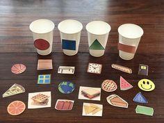 Shape Sort - Everything About Kindergarten Preschool Learning Activities, Sorting Activities, Infant Activities, Kindergarten Math, Preschool Activities, Kids Learning, Learning Shapes, Learning Resources, Learning Spanish
