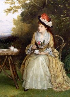 """Photo of """"AFTERNOON TEA"""" by WILLIAM OLIVER"""