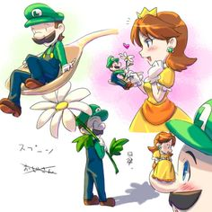 Image shared by Find images and videos about daisy and luigi on We Heart It - the app to get lost in what you love. Princesa Daisy, Luigi And Daisy, Weegee, Super Mario Art, Instagram Story Viewers, Nintendo Characters, Most Popular Instagram, Mario Bros, Little Princess