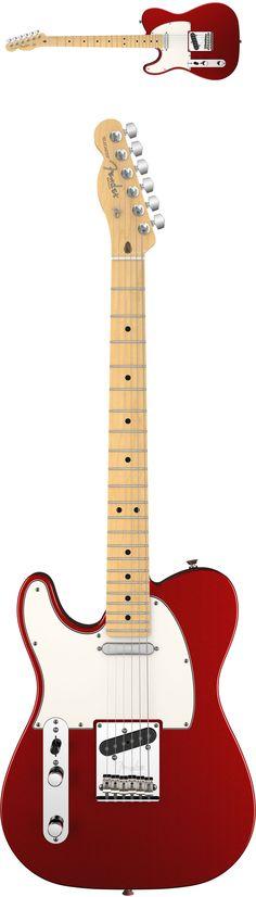 Fender American Standard Lefty Telecaster 2012 Guitar Red Maple
