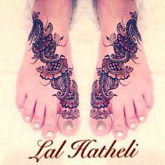 Bridal feet by Lal Hatheli