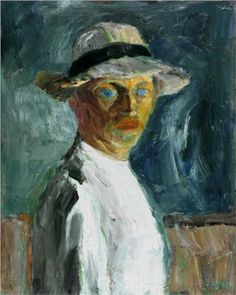 Emil Nolde-Self Portrait,  (7 August 1867 – 13 April 1956) was a German painter and printmaker. He was one of the first Expressionists, a member of Die Brücke, and is considered to be one of the great oil painting and watercolour painters of the 20th century. He is known for his vigorous brushwork and expressive choice of colors.