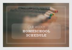 Homeschooling schedule
