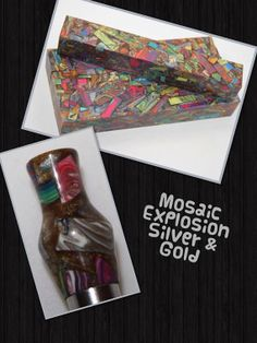 Mosaic Explosion in Silver and Gold by AngelsHeavenlyDesign, $25.00
