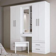 Bedroom Built In Wardrobe, Wardrobe Furniture, Bedroom Closet Design, Bedroom Furniture Design, Home Decor Furniture, Wood Furniture, Wardrobe Door Designs, Closet Designs, Bedroom Layouts