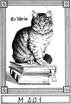 Il mio ex libris... un gatto, naturalmente!
