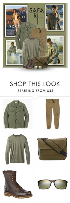 """""""Let's Go To The Jungle"""" by marion-fashionista-diva-miller ❤ liked on Polyvore featuring ADAM, J.Crew, River Island, prAna, STONE ISLAND, Dr. Martens, Maui Jim, men's fashion, menswear and safari"""