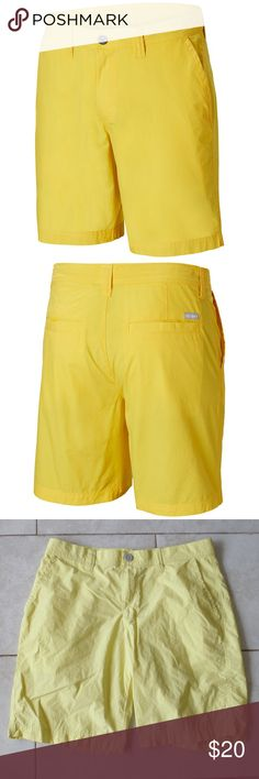 9907e53654 Columbia Mens soft cotton shorts 32W - Men's Columbia Yellow shorts - No  stains or defects