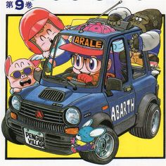 Arale driving her Innocenti A112 Modificata Abarth