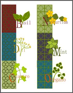 Herb and spice labels