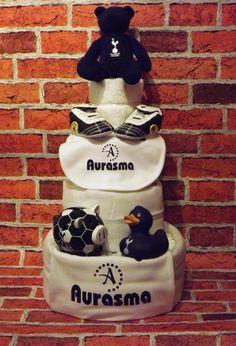 Tottenham Hotspur 4-Tier Nappy Cake | We Make Nappy Cakes